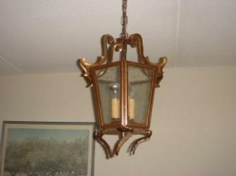 Mooie ouderwetse lamp