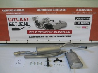 Complete Uitlaat Audi A4 1.6 + Montageset