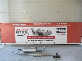 Complete uitlaat Renault Clio 2 1.6i 16V+ montages