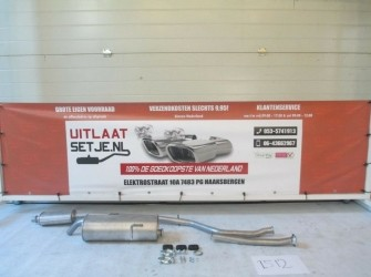 Complete Uitlaatset Peugeot 206CC 1.6 Coupe/Cabrio