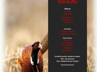 Drentse Hooglanden buffet, WILD BUFFET