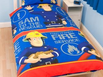 Brandweerman Sam BLAUW Eenpersoons Dekbedovertrek set