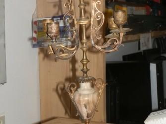 Antieke lampen houder