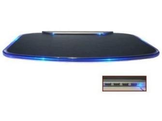 Illuminated USB Hub Muismat - Gratis Bezorgd!