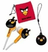 Angry Birds 3DS Buds Gamer set, black