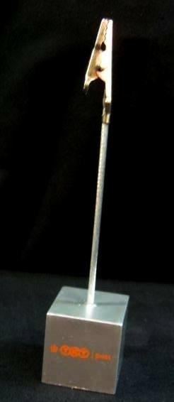 TNT post notitiehouder,NIEUW,12 cm hoog,zilver metallic