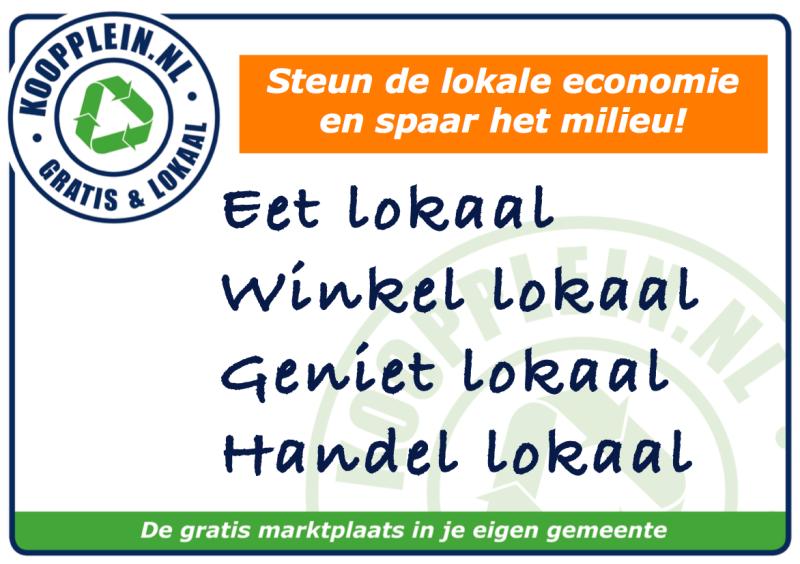 Stimuleer de lokale economie!