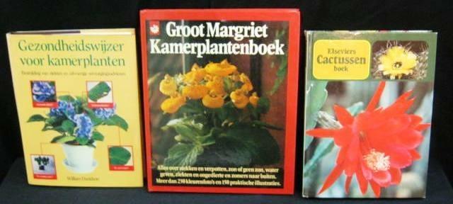 3 kamerplant boeken:gezondheid/cactussen/kamerplant,496 blz