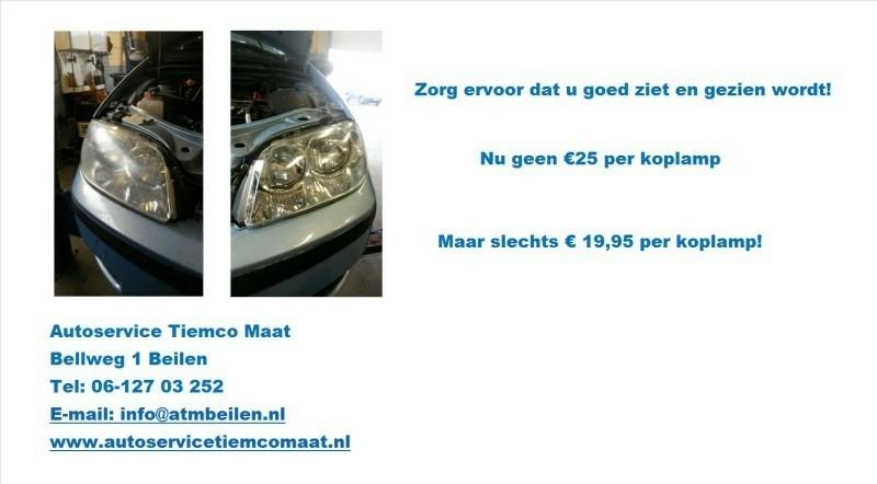 Koplampen polijsten, nu slechts € 19.95 per koplamp