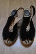 Open schoenen met sleehak