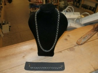 Verzilverde damesketting jasseron schakel 60 cm Pandjeshuis