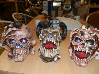 Doodshoofden skelet met verlichting supergaaf