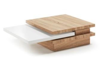 [Webshop] LaForma salontafel YUKI, kleur eiken/wit in 2 kle…