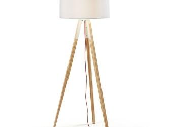 [Webshop] LaForma Vloerlamp UZAGI, houten poot, kleur wit