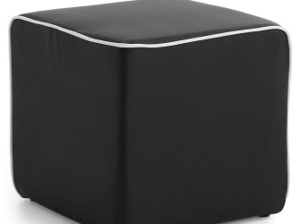 [Webshop] LaForma Poef MANABI PU, kleur zwart
