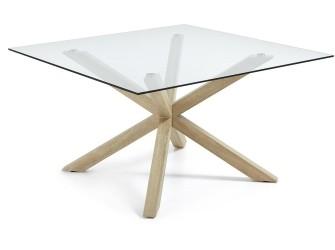[Webshop] LaForma Eettafel Arya hout / glas vierkant, 149 x…