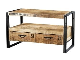 [Webshop] Tv-meubel Iron Industrieel met 2 laden