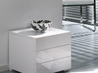 [Webshop] Ladenkast Inge met 3 laden, kleur hoogglans wit