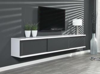 [Webshop] Hangmeubel Hortensia 240cm, kleur wit / donkergri…