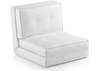 [Webshop] LaForma Slaapstoel Zip PU, kleur wit