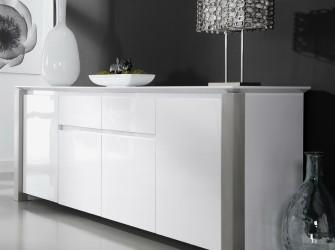 [Webshop] Dressoir Pok 240cm, kleur hoogglans wit