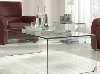 [Webshop] Glazen Salontafel Eddy 135 x 65cm