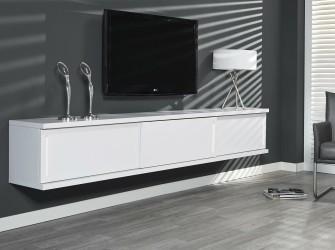 [Webshop] Hangend TV-meubel Marinda, kleur wit