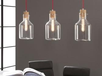 [Webshop] Hanglamp Deneen 3-lamps, helder glas