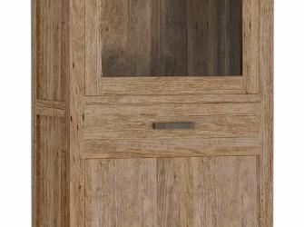 [Webshop] Vitrinekast Lorenzo met 2 deuren en 1 lade