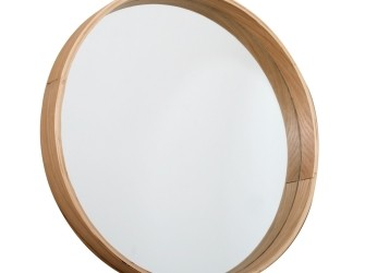 [Webshop] Butik ronde houten spiegel (45 cm)