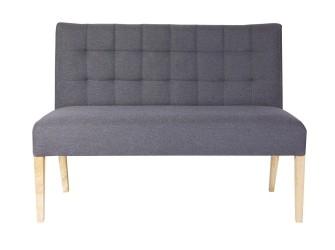 Woood Eetkamerbank Tijmen 125 cm, kleur cool grey