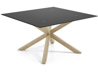 [Webshop] LaForma Eettafel Arya hout / zwart vierkant, 149…