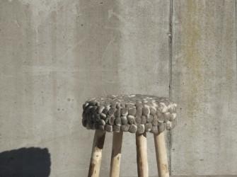 [Webshop] By-Boo Krukje Wool wooden legs stone in 2 kleuren
