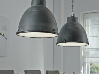 [Webshop] Industriële Hanglamp Brigida met dubbele kap, kle…