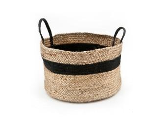 By-Boo Basket Jute, kleur zwart