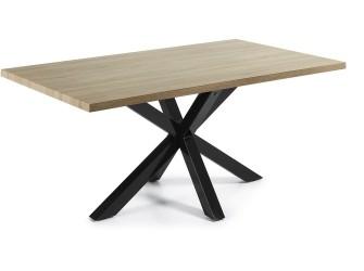 [Webshop] LaForma Eettafel Arya zwart / hout in 3 maten