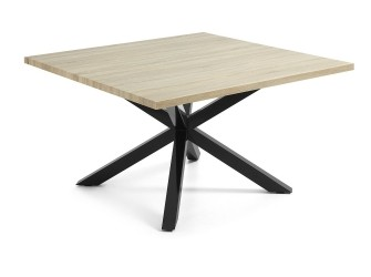 [Webshop] LaForma Eettafel Arya zwart / hout vierkant, 149…