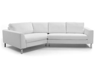 [Webshop] LaForma 45°-Hoekbank Metropoli PU, kleur wit