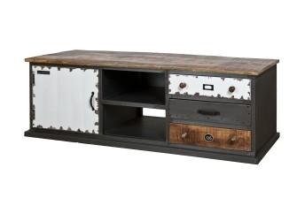 [Webshop] TV-meubel Eleonora Vintage met 1 deur en 3 laden