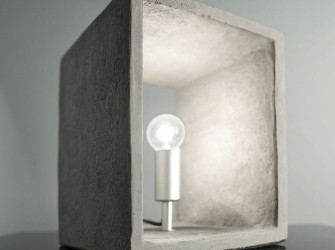 [Webshop] Tafellamp Alessandra, cement, kleur grijs