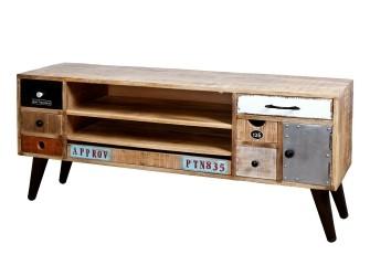 [Webshop] Tv-meubel Eleonora Vintage met 1 deur en 7 laden