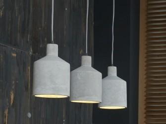 [Webshop] Hanglamp Leia beton, 3-lamps - Gratis bezorging!