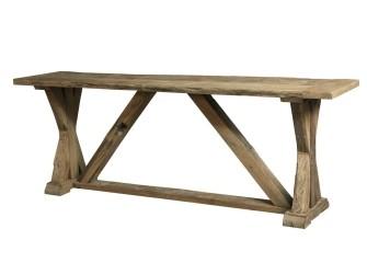 [Webshop] Side-table Oud Eiken met kruispoot