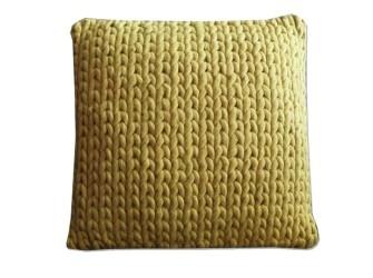 [Webshop] By-Boo Kussen Wool 40 x 40 cm, kleur geel