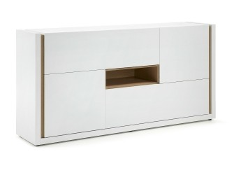 [Webshop] LaForma Dressoir QU, Wit met 2 deuren en 2 kleppe…