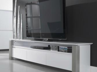 [Webshop] TV-meubel Pok 210cm, kleur hoogglans wit