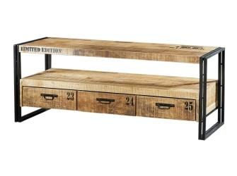 [Webshop] Tv-meubel Iron Industrieel met 3 laden
