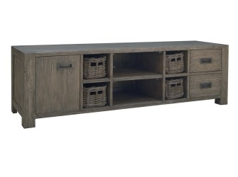 [Webshop] TV-meubel Brian met 1 deur, 2 laden en 4 manden