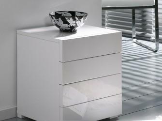 [Webshop] Ladenkast Inge met 4 laden, kleur hoogglans wit