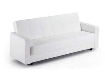[Webshop] LaForma Slaapbank RUMBA, PU-leder, kleur wit